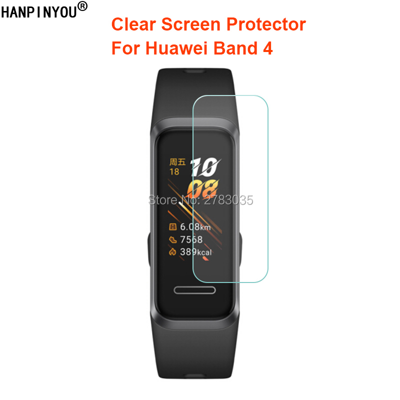For Huawei Band 4 Band4 Wristband Smart Bracelet Clear Glossy Screen Protector Protective Film Guard (Not Tempered Glass)