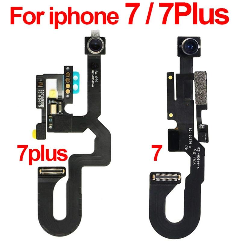 Para iphone 7 plus câmera frontal cabo flexível módulo para iphone 7 frente frente frente camer luz sensor de proximidade substituição original