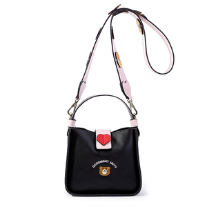 Женская сумка с Вышивкой Контрастного цвета на осень и зиму 2019