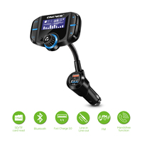 1.65'' BT70 FM Transmitter QC3.0 2.4A Fast Charger Bluetooth MP3 Player Car Kit Support Handsfree TF Card FM Modulator