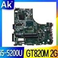 Для ACER E5-471 E5-471G V3-472 V3-472P Материнская плата ноутбука DA0ZQ0MB6E0 с i5-5200U GT820M 2G 100% тесты работы
