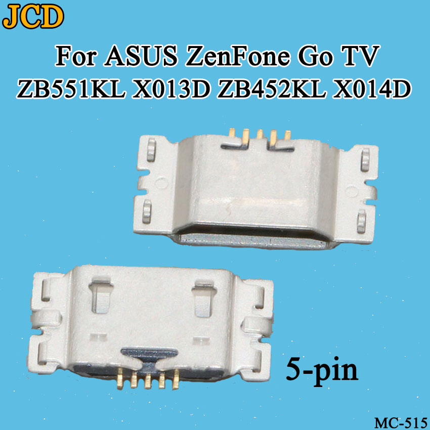 JCD 10PCS/Lot Micro <font><b>USB</b></font> Charge Port Dock Socket Jack Plug For ASUS <font><b>ZenFone</b></font> <font><b>Go</b></font> TV <font><b>ZB551KL</b></font> X013D ZB452KL X014D Charging Connector image