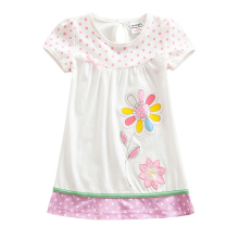 Girls Short Sleeve Dress Summer New Embroidered Cute Wearing Dresses for