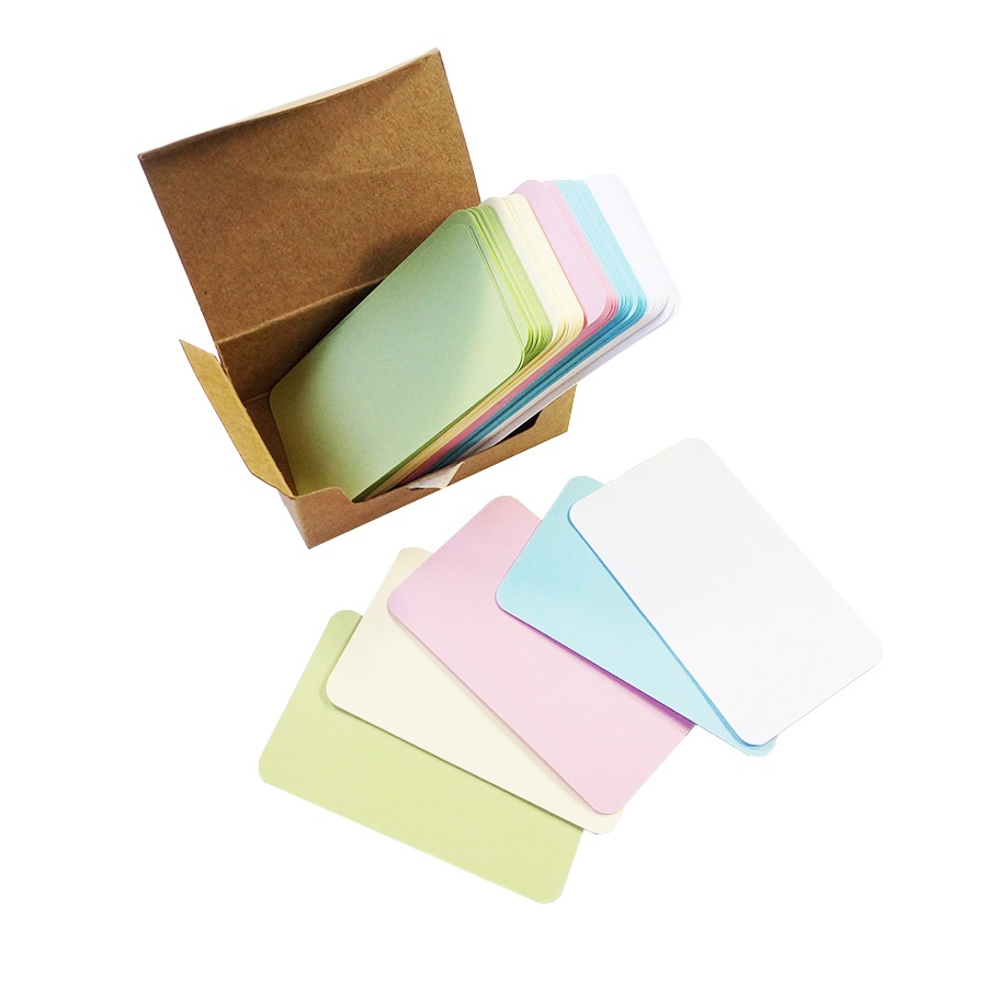 100 Pcs/lot Polychromatic Extract Card Classic Blank Greeting Card Kraft Paper Postcard  Card Stationery