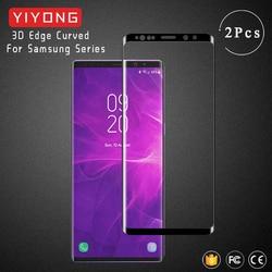 YIYONG 3D krawędzi zakrzywione szkło do Samsung Galaxy S8 S9 Plus S7 krawędzi szkło hartowane Screen Protector dla Samsung uwaga 8 9 S szkło