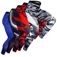 Мужские брюки эластичные быстросохнущие плотные Компрессионные спортивные Фитнес тренировочные брюки спортивная одежда для баскетбола Велоспорт Бег