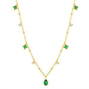 Image 5 - Silvology 925 Sterling Silver 4A Green Zircon Choker Necklace for Women Chic Elegant Mori Style Luxury Necklace Festival Jewelry