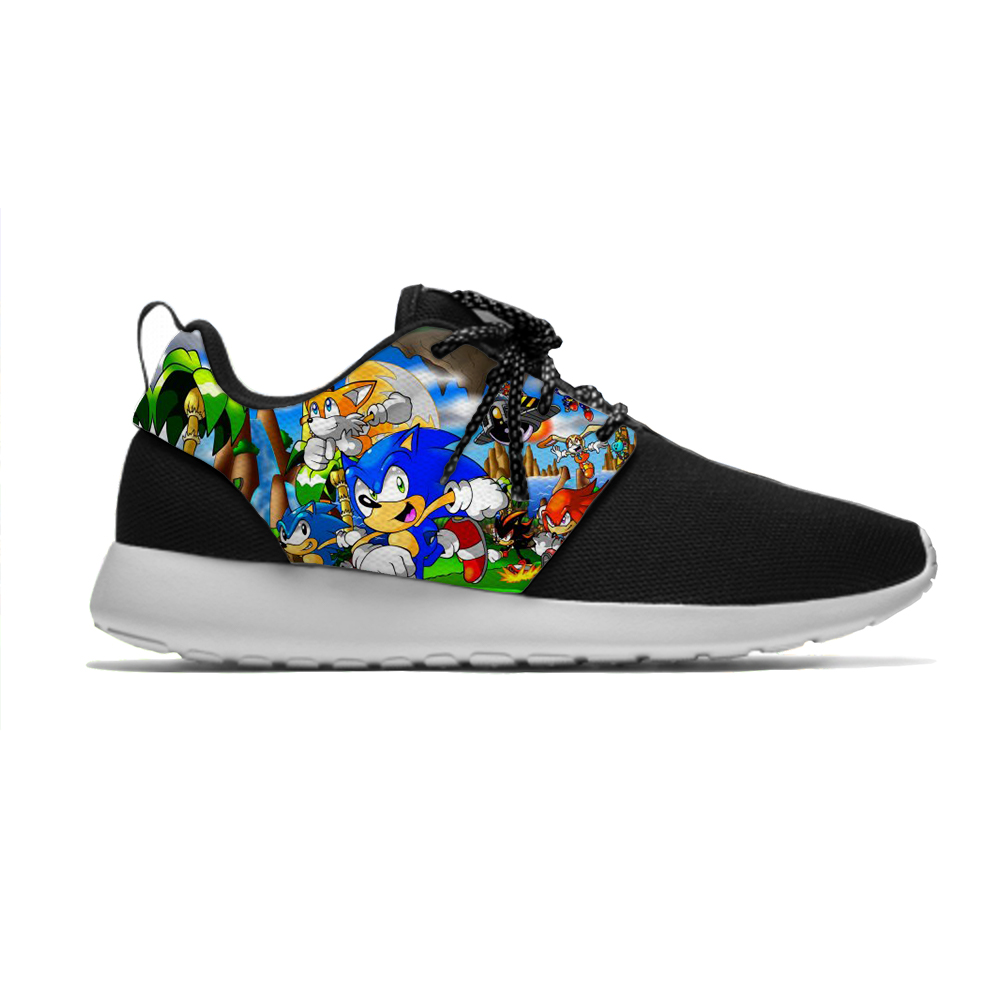 Sonic The Hedgehog Hot Funny Cartoon Kids Breathable Sport Running Shoes Cool Casual 3D Printing Sneakers Boys Girls Children