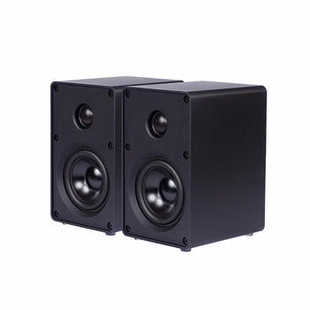 1 pair HIFI Bookshelf Speaker All Aluminum Chassis Speaker HIFI Passive Speaker For Amplifier Audio 3-inch Two-way HIFI Speaker 1