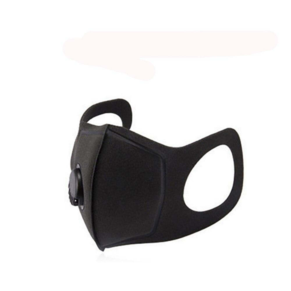 New Unisex Sponge Dustproof Masks Double Valve Mask Pollution Half Face Mouth Mask With Breath Wide Straps Washable Reusable