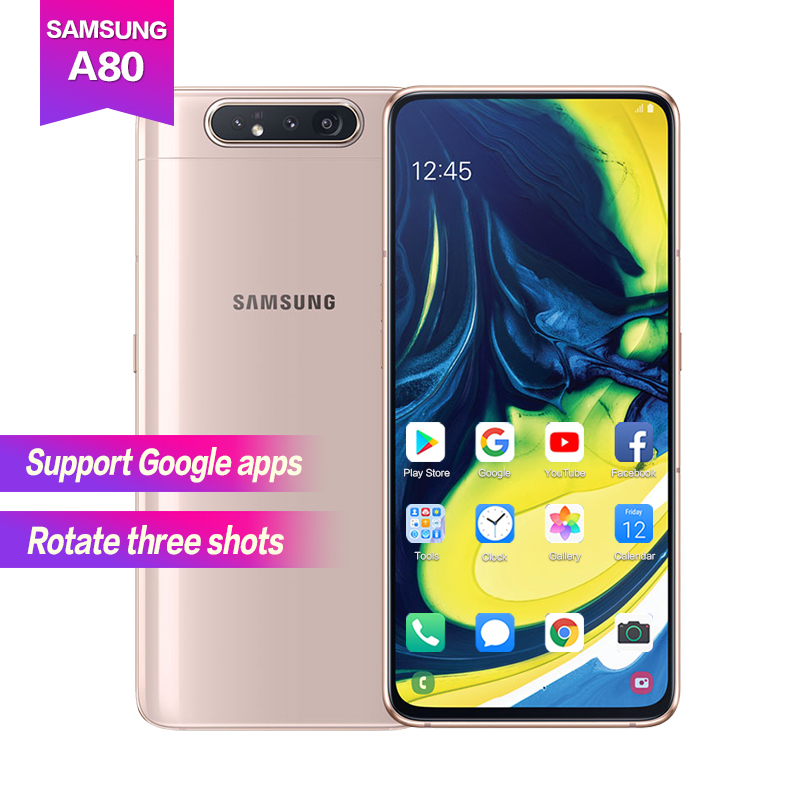 "Samsung A80 6.7""Super AMOLED 1080*2400 Octa Core 3700mAh Support NFC Fingerprint ID 25W Flash charging 3 cameras 48MP+8MP+HQVGA"