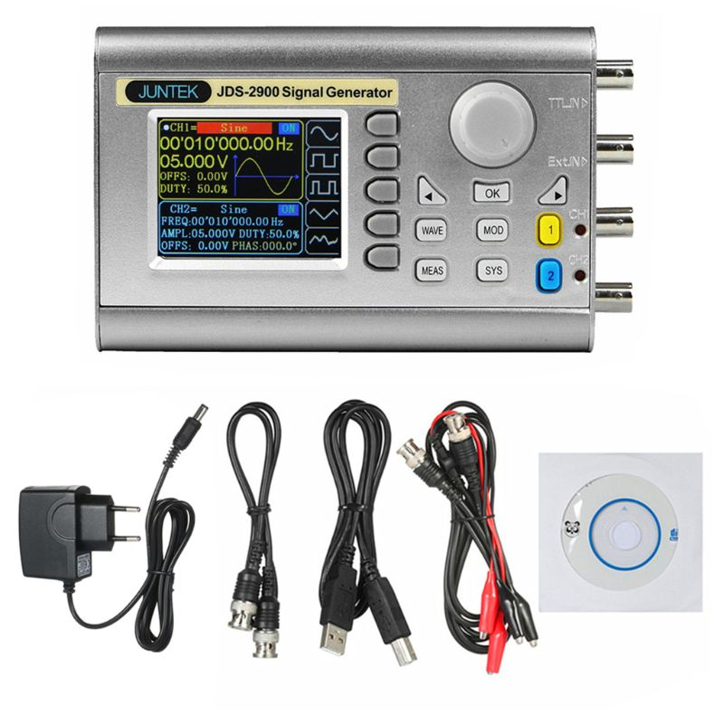 OOTDTY 2-Channel DDS Signal Generator Counter Frequency 15 MHz Signal Source JDS2900 EU A5YD