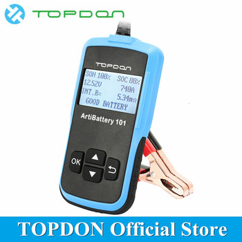 TOPDON ArtiBattery101 Portabel Universal Automotive Load Digital Battery Tester 12V Car Analyzer Scanner Diagnostic Tool