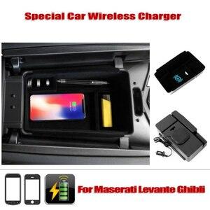 Image 5 - Mobiele Telefoon Draadloos Opladen Centrale Opbergdoos Voor 2016 2018 Maserati Levante/2014 2018 Ghibli/2015  2018 Quattroporte