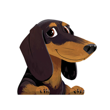 Animal Car Stickers Cartoon Dachshund Sticker Pet Dog Vinyl Decal Waterproof Car Styling Accessories,13cm*12cm недорого