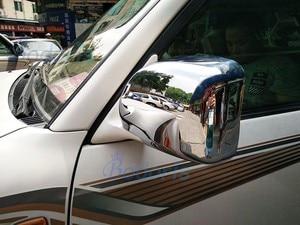 Image 5 - Aksesuarları Toyota Land Cruiser 100 için LC100 Lexus LX470 1998 2007 kapı ayna kapağı yerleşimi paneli çerçeve krom araba styling
