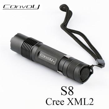 Convoy S8 with Cree XML2 T6 U2 LED Flashlight EDC Torch S2 Plus linterna LED Bike Light 18650 Flash Light Work Camp Tent Lamp 10pcs dc3 7v 5 modes led flashlight driver for cree xml t6 u2 xml2 10w led light lamp torch