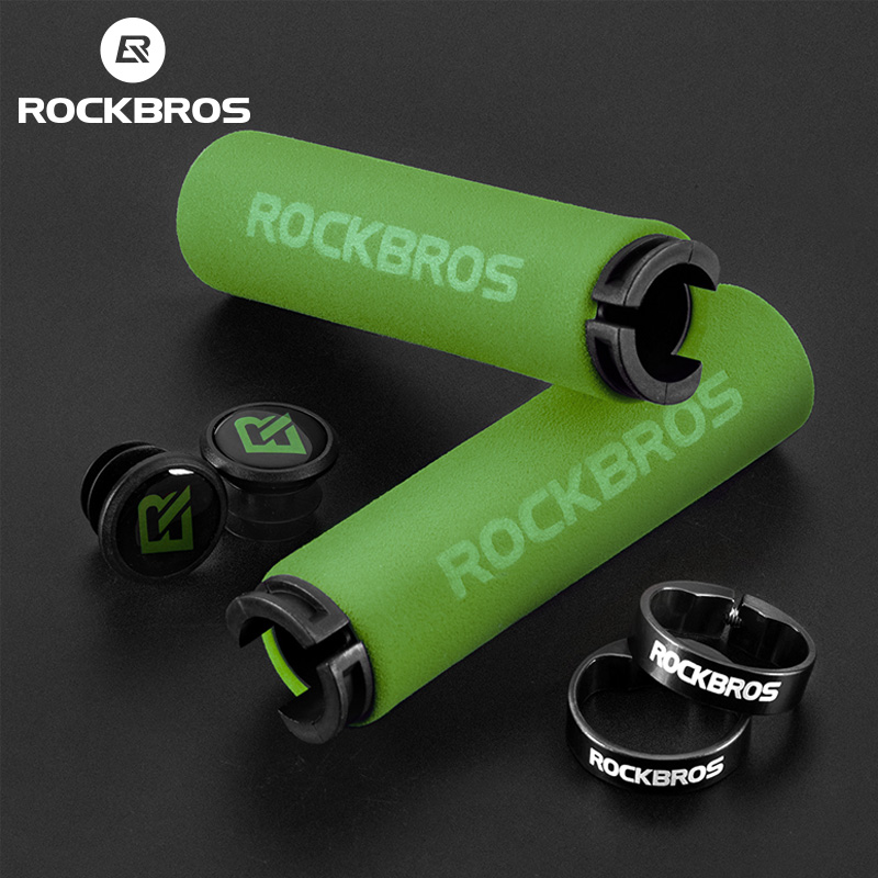 ROCKBROS Bike Girps Ultralight Silicone Material Handlebar Girps MTB <font><b>Bicycle</b></font> Handlebar Anti-slip Cycling Grips <font><b>Bicycle</b></font> <font><b>Parts</b></font> image
