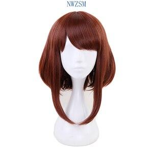 Женский коричневый короткий парик My Hero academic OCHACO URARAKA Ochako, костюм для косплея, термостойкие парики для волос Boku no Hero academic