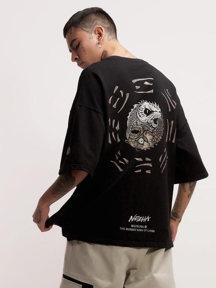 Estate di sesso maschile e Femminile T shirt Tee di Skateboard Ragazzo Skate Tshirt Magliette e camicette 100% cotone Degli Uomini di Roccia Hip hop Street wear maglietta di modo - 3