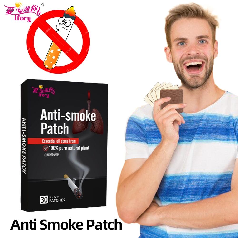 Ifory 1 коробка = 30 шт Herbal курить патч здоровье кожи вокруг глаз против дыма патч без побочных эффектов пластырь для прекращения отказаться от к...