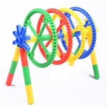 Детские взаимосвязанные игрушки трубчатый цветок блоки здание игровой набор игрушки космическая игра на координацию для детей