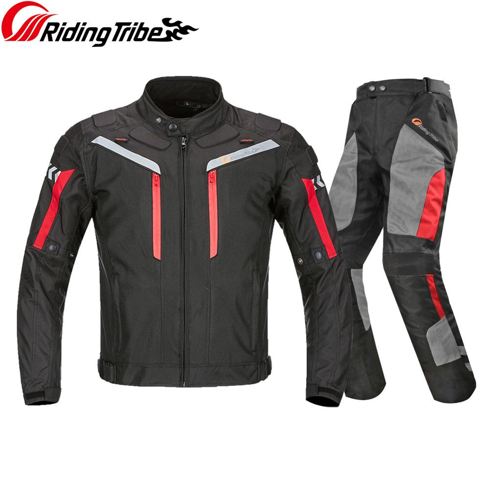 Waterproof Pants Jacket for Motorcycle Riding Trousers Raincoat Rainwear Suit Moto Protective Safety Protective Clothing HP-12 3