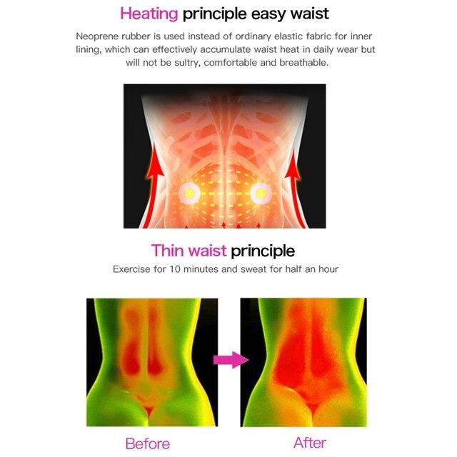 Women Weight Loss Lumbar ShaperSteel Boned Waist Corset Trainer Sauna Sweat Sport Girdle CintasTrimmer Belt 4