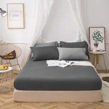 Spannbettlaken Mikrofaser, Dunkelgrau Premium Spannbetttuch mit Rundumgummi für Kinder und Erwachsene