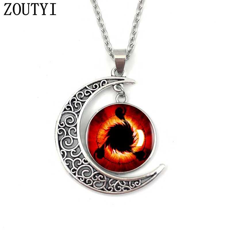 2019/Naruto Sharingan Shippuuden oczy, księżyc wypukłe kryształ wisiorek naszyjnik, mężczyzn i kobiet naszyjnik, prezenty.