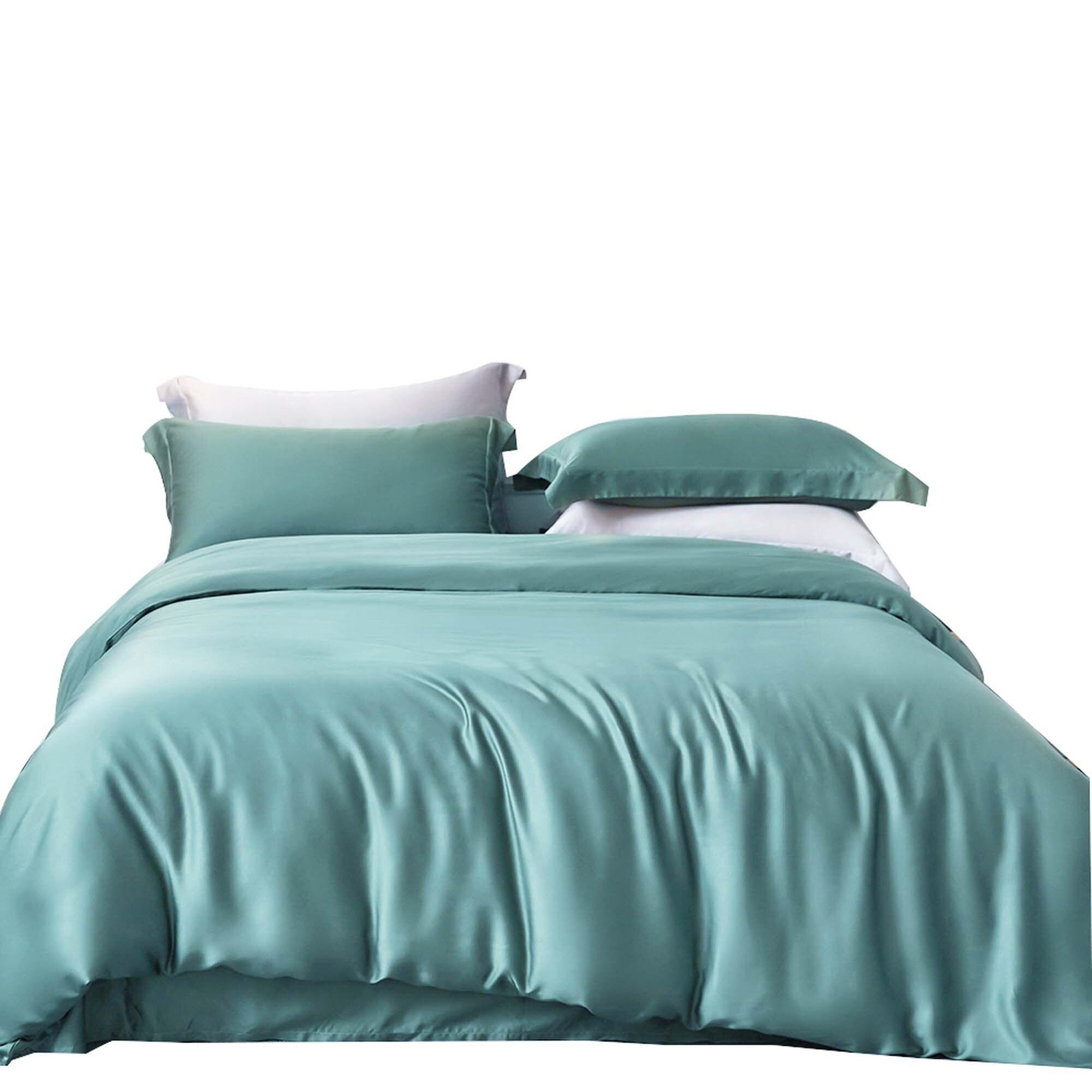 Комплект постельного белья из 3 предметов, Роскошный домашний текстиль, серое одеяло, пододеяльник, двуспальная кровать|Комплекты постельного белья| | АлиЭкспресс