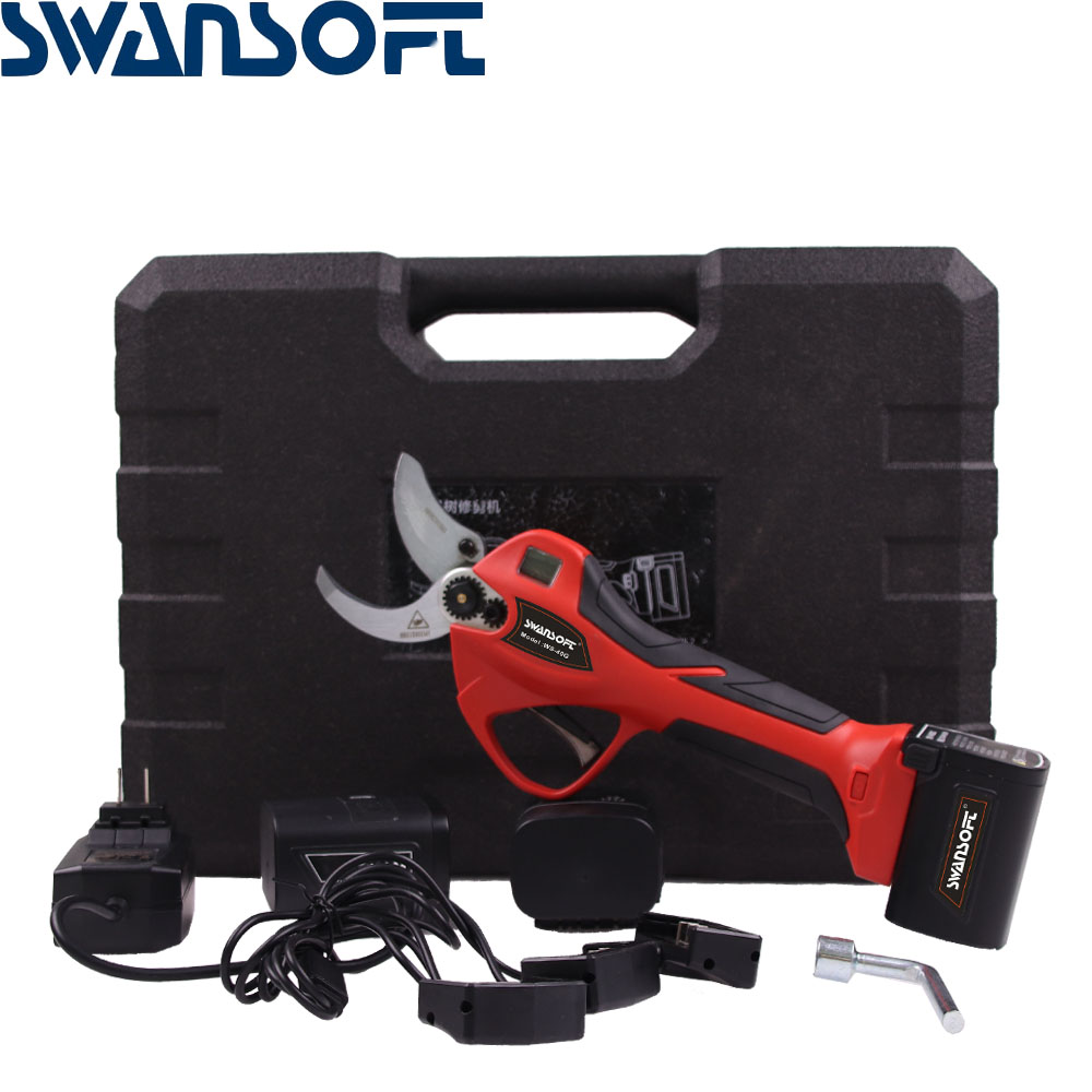SWANSOFT Professional Electric Pruning Shears16 8v Li-ion Battery 40mm cordless pole pruning bypass lopper