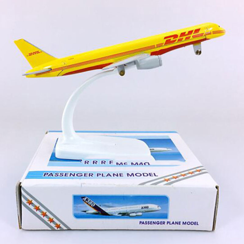 16CM Diecast Aircraft 1:400 Boeing B757-200 Model DHL Express Delivery Airlines W Base Alloy Airplane Collectible Plane Toy Gift