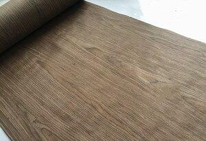 Image 5 - 技術4FCクルミ木材エンジニアリングベニヤe.v。62 × 250センチメートルティッシュバッキング0.2ミリメートルの厚さのc/c