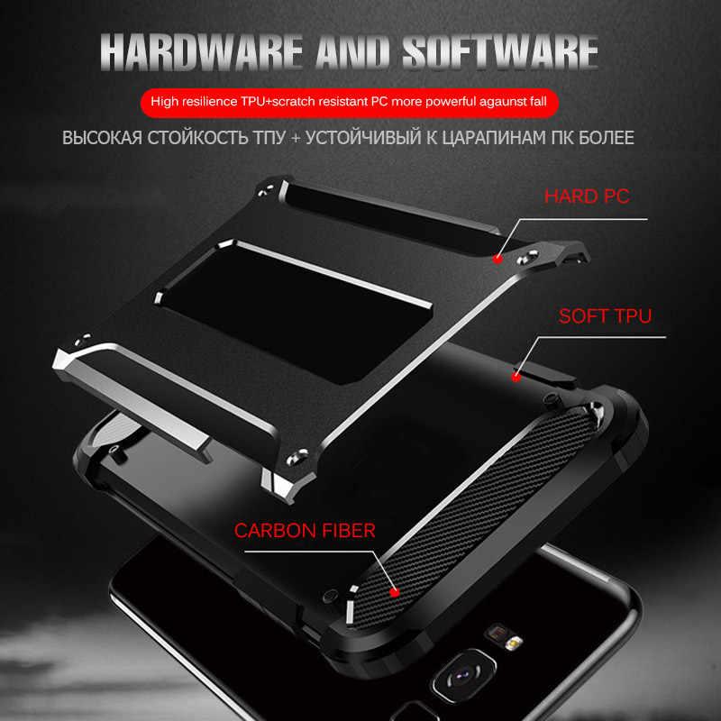 Zırh darbeye dayanıklı samsung kılıfı Galaxy S8 S9 artı S10 E not 10 9 8 A10 A20 A30 A40 A50 A70 M20 a20E kapak hibrid zırh kapak
