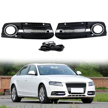 Grill Light Front Daytime Running Light Fog Light Cover Grille for Audi A4 A4L B8 2009-2012 8KD80768201C 8KD80768101C