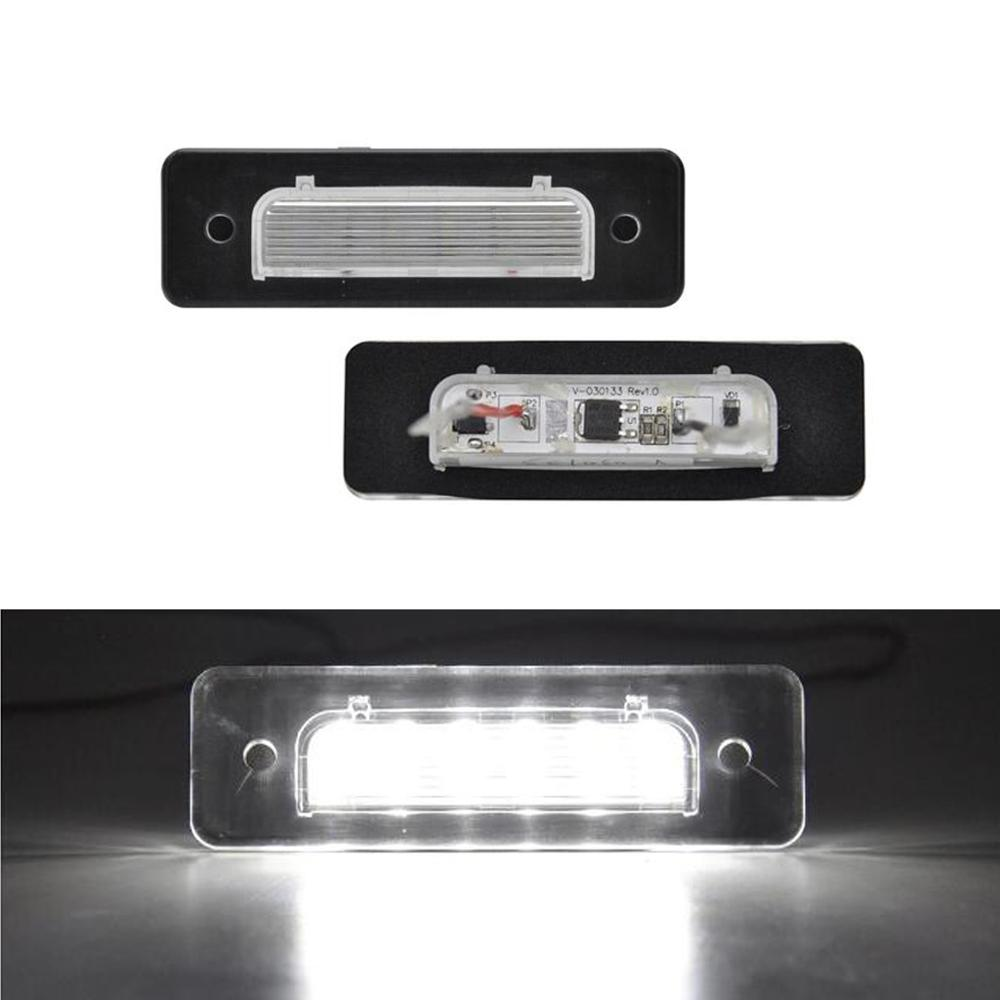 2PCS High Quality E4 Approved LED License Plate Lamp for <font><b>BMW</b></font> E30 E12 E28 E24 <font><b>E23</b></font> M1 E26 image