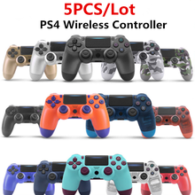 5 PCS/ Lot PS4 Controller ps4 Manette Wireless 6-Axis Dual Vibration Bluetooth 4.0 Gamepad Joystick For PS3 PC iPad Mobile Phone