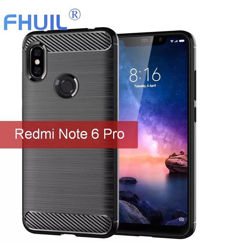 FHUIL Case For Redmi Note6 pro Xiaomi Silicone TPU Bumper Shockproof Cover for l