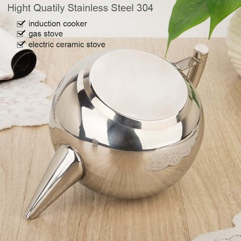 BORREY 2L Stainless Steel Teapot With Tea Infuser Filter Oolong Kettle Metal Tea Coffee Pot Induction Cooker Gas Stove Kettle 3