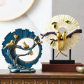 Tradictional Chinese Resin Bird Sculpture Home Decoration Accessories Modern Feng Shui Ornaments Desk Decoration Mascot Crafts