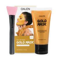 Whitening Mask Cream Face Mask Glitter Face Gold Shimmer Peel-off Blackhead Removing with brush
