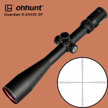 ohhunt Guardian 6-24X50 SF Hunting Riflescope 1/2 Half Mil Dot Glass Etched Reticle Optics Sight with Side Parallax Rifle Scope
