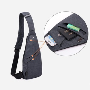 Image 4 - DIENQI Anti theft Chest Bag Male Thin Chest Pack Holster Men Bag Sling Personal Pocket Pauch Purse Man Cross Body Strap Hand Bag