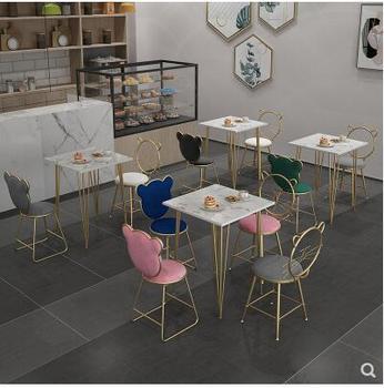 Rozrywka stół i krzesło restauracja tematyczna herbaty stół marmurowy stół i krzesło Nordic balkon stół i krzesło internetowi celebryci dziewczyna serce tanie i dobre opinie CN (pochodzenie)