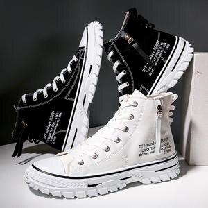 Canvas Shoes High-Top Trend Korean Casual Wild 39 Oxford Help Men