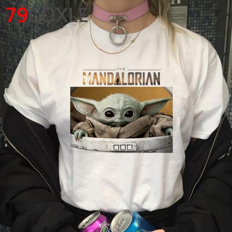 Lovely Baby Yoda T Shirt Men Star Wars Mandalorian T-Shirt Funny Cartoon The Child Yoda Cute Tshirt Hip Hop Top Tees Male