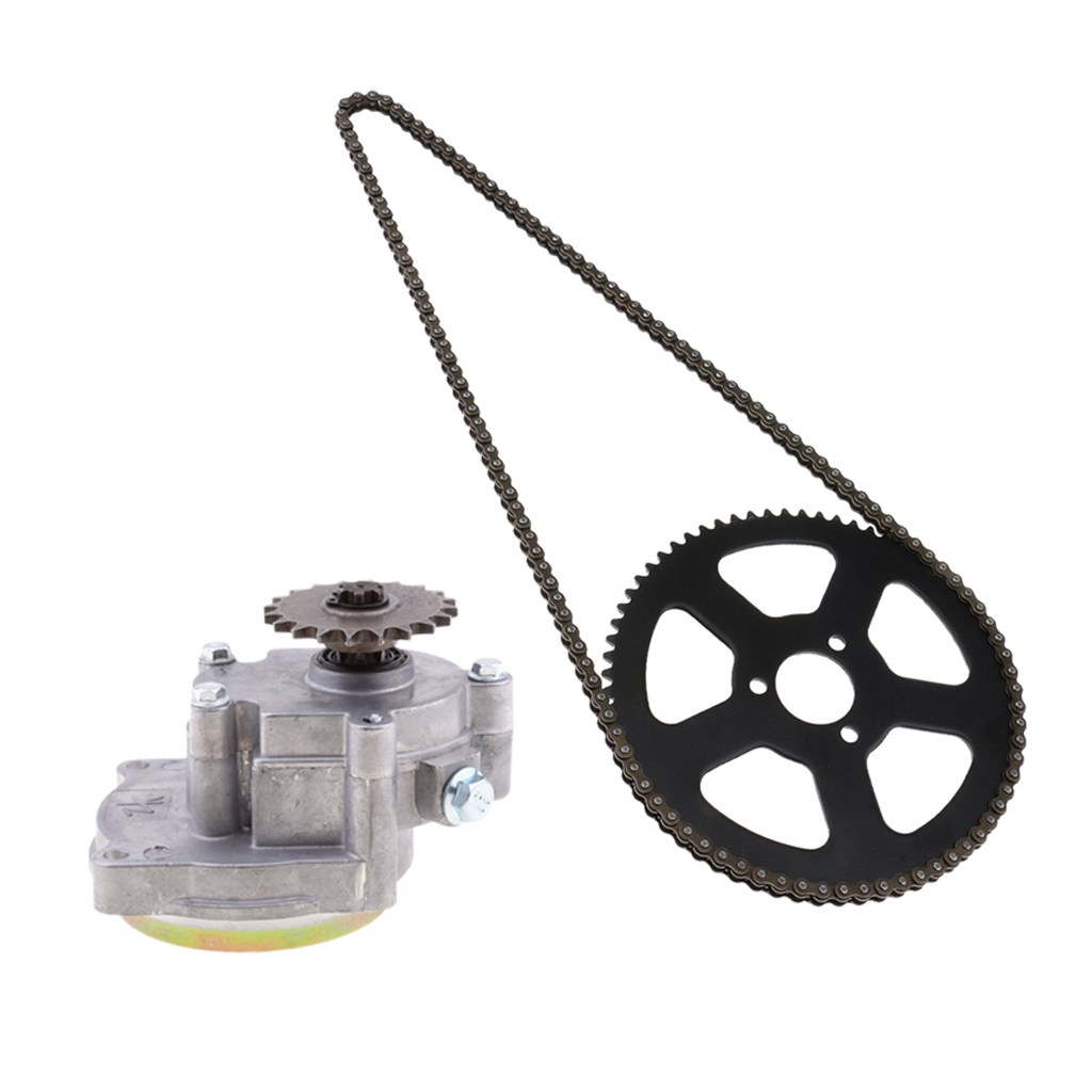2-Stroke / 4-Stroke Transmission Gear Box, 25H 68T 68 Tooth Rear Sprocket And 68 Links Chain For 49cc Mini Pocket Bike