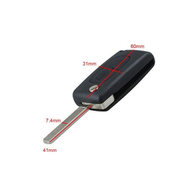 2 przyciski Auto Flip składana obudowa pilota z kluczykiem samochodowym pokrowiec do citroena C2 C3 C5 pusty klucz zamienny klucz wejściowy Fob