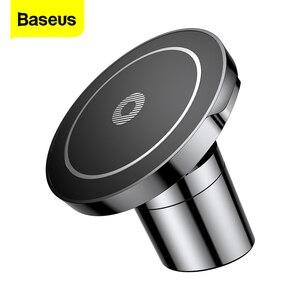 Image 1 - Baseus Auto Mount Qi Draadloze Oplader Voor Iphone 11 Pro Xs Max Samsung Auto Draadloze Opladen Magnetische Draadloze Autolader houder